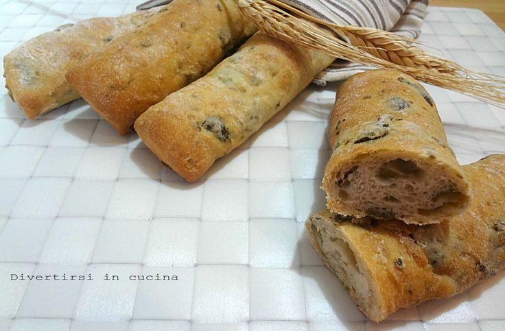 Ricetta bastoncini di pane alle olive Divertirsi in cucina