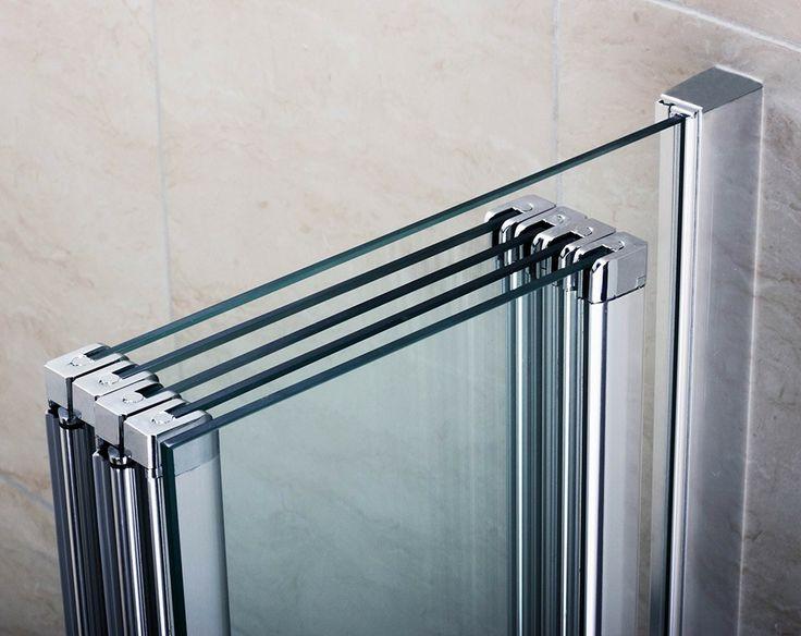 Premier 4 Folding Bath Screen with Fixed Panel Folding