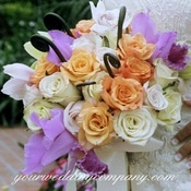 Roses and Iris Wedding Bouquet