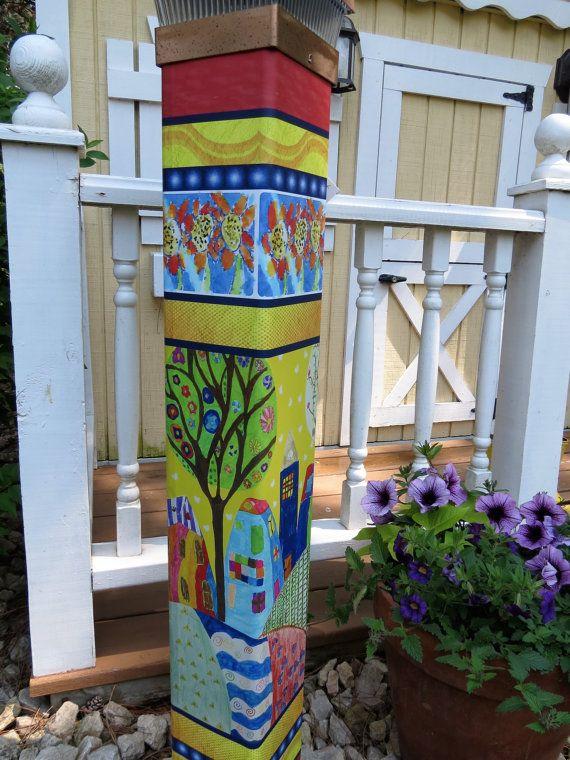 101 best Garden Pole images on Pinterest | Garden art, Garden totems ...