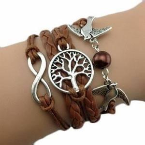 Bracelet infini arbre de vie colombe chocolat - Achat / Vente bracelet - gourmette Bracelet infini arbre de vi - Cadeaux de Noël Cdiscount
