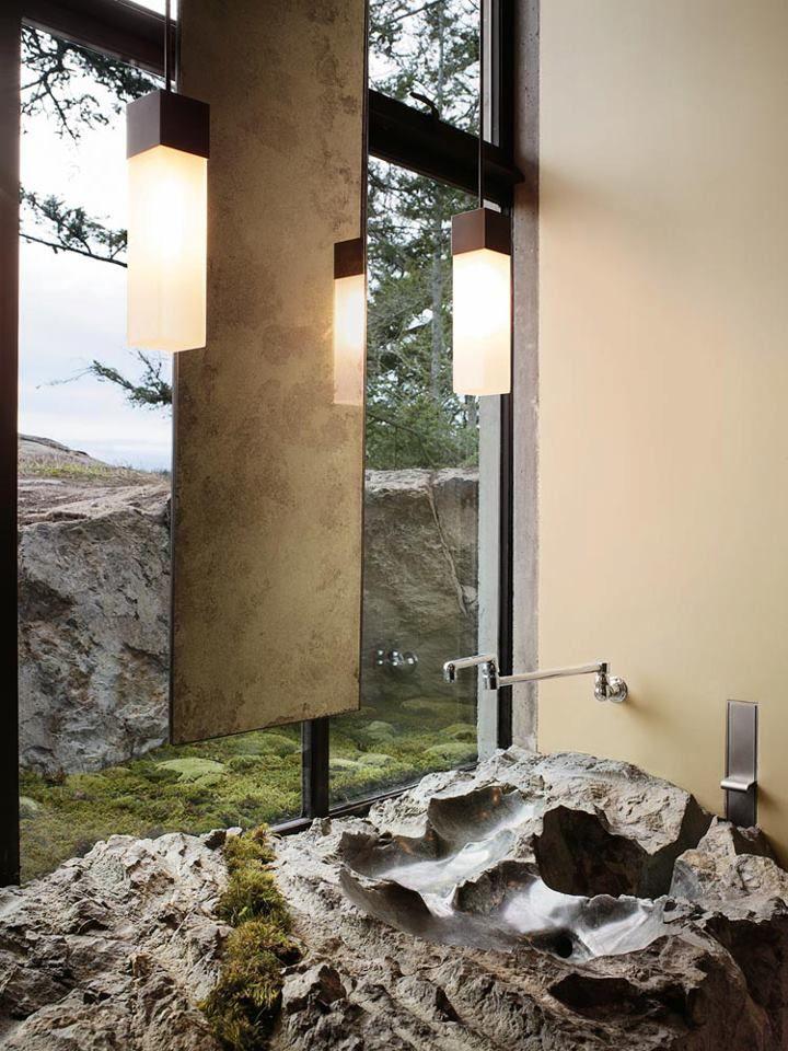 Каменная раковина. Вилла Пьер (Villa Pierre) в США от Olson Kundig Architects. http://www.magazindomov.ru/2010/11/20/dom-sredi-kamnej-v-ssha/
