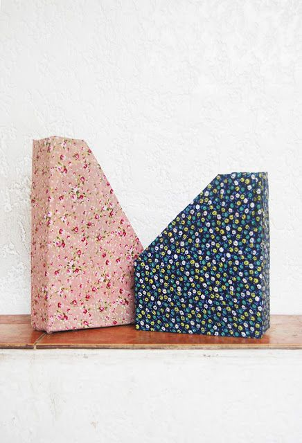 The Pink Doormat: Cereal Box File Holders
