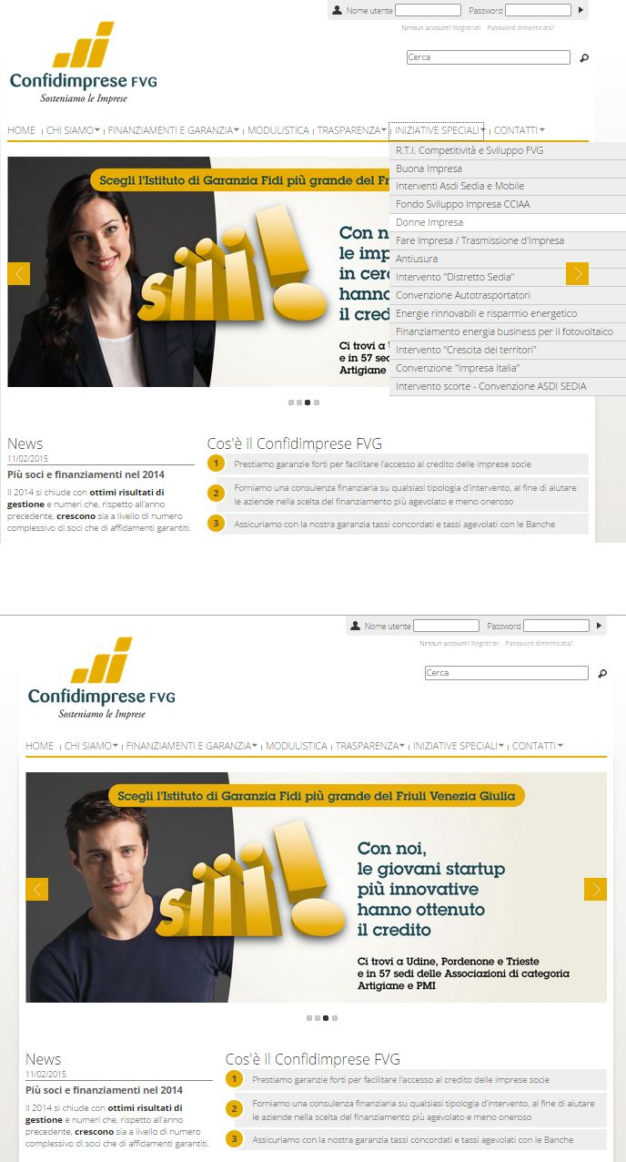 Realizzazione del #sitointernet per #ConfidimpreseFVG l'ente più grande della regione #FriuliVeneziaGiulia per la #garanziafidi . Un sito completo ed esaustivo dove l'utente può trovare tutte le informazioni per ottenere la #garanzia che dà accesso al #credito www.confidimpresefvg.it