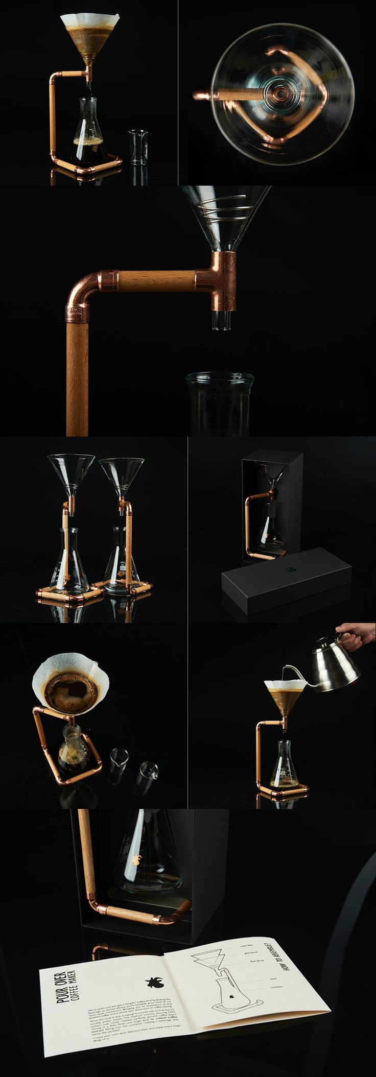 """The G-Drip coffee maker takes inspiration from the """"pour over"""" technique well-known among true coffee connoisseurs. Read Full Story at Yanko Design"""