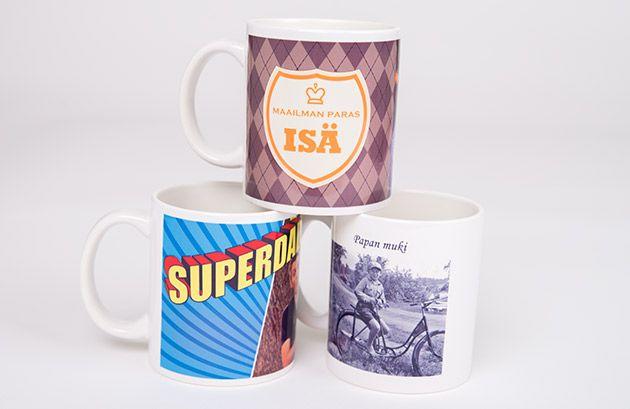 Isälle lahjaksi kuvamuki omasta kuvasta iloisempiin kahvihetkiin! - http://www.ifolor.fi/kuvalahjat/kuvamuki
