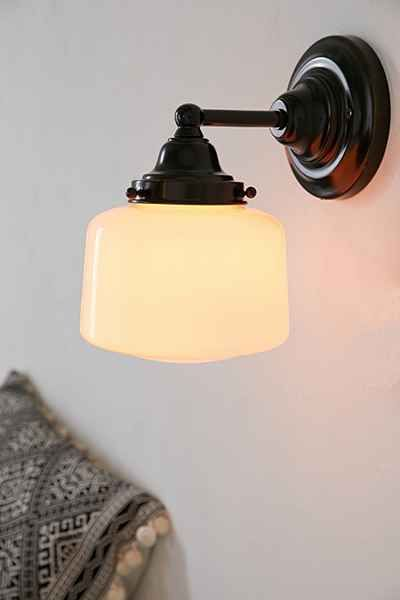Schoolhouse sconce from well i have the - Schoolhouse bathroom vanity light ...