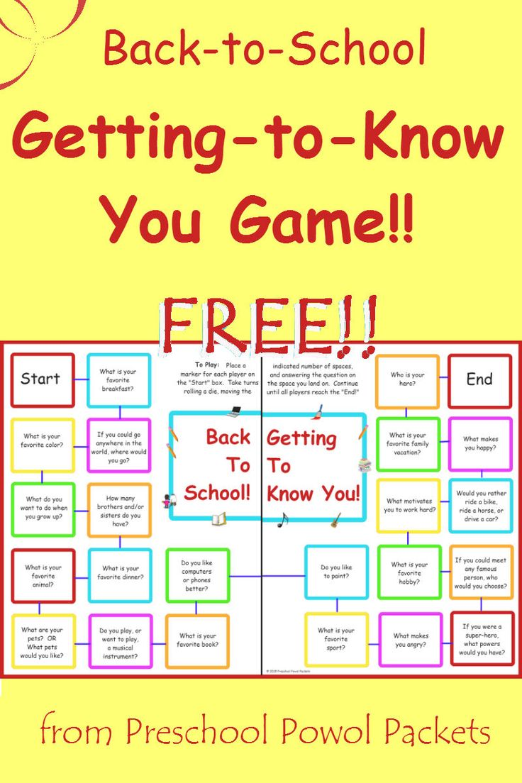 {FREE} Back to School Getting to Know You Game!! | Preschool Powol Packets