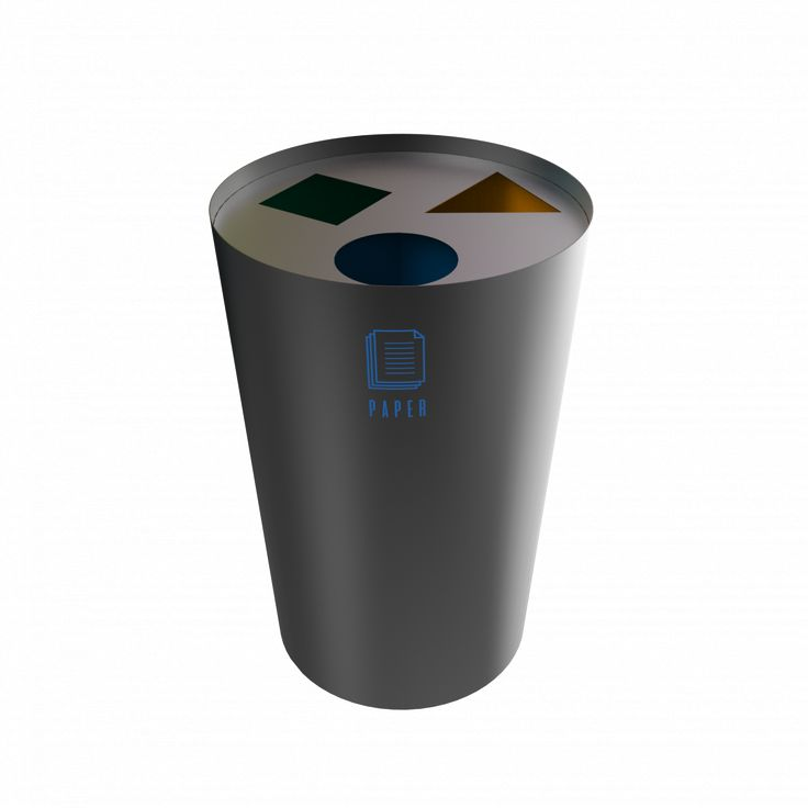 SINGLA PC - Stylish design powder coated metal trash bin station