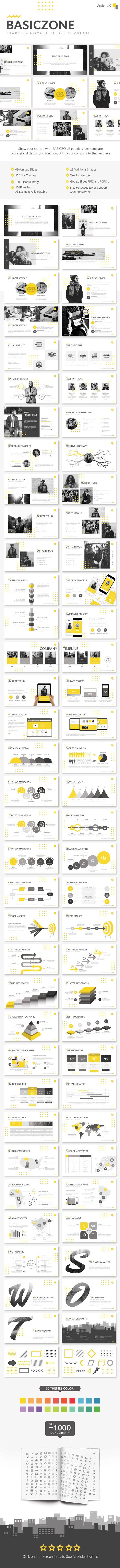 Basiczone V1 - Start Up Google Slides Template - Google Slides Presentation Templates