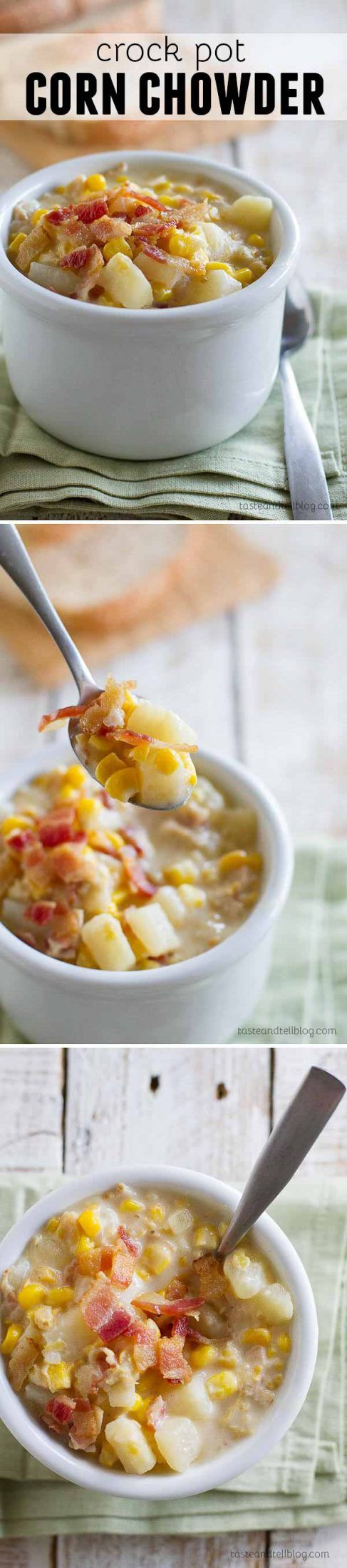 My mom's recipe for Crock Pot Corn Chowder - you can't go wrong when it's mom's recipe!: