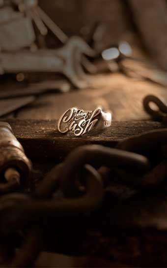 Rumble59 - Edelstahl-Ring - Johnny Cash