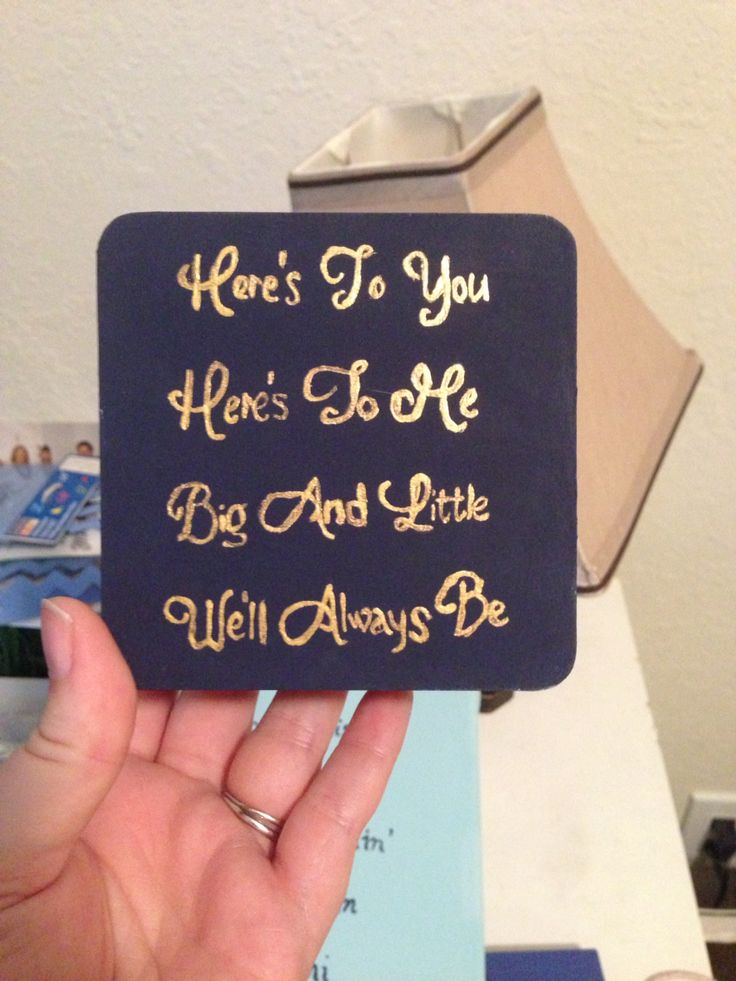 Pin box for a fam member for her new little. (diy coasters quotes)