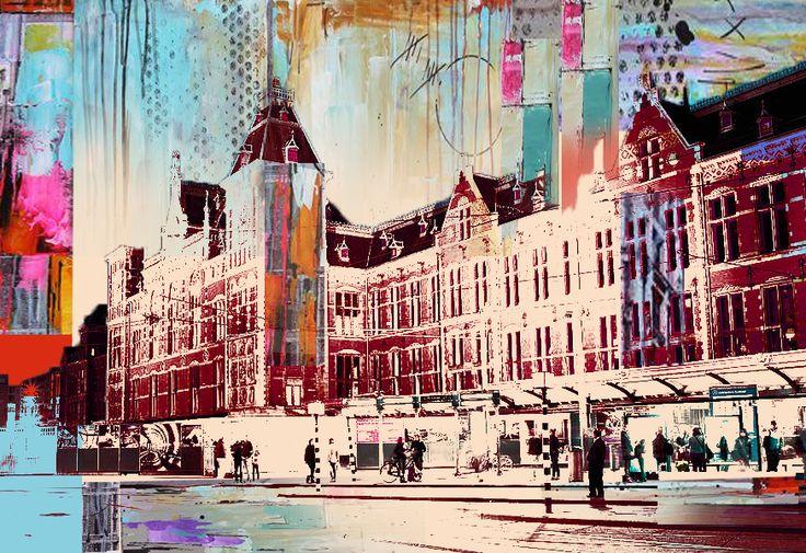 Amsterdam Central Station - Photoshop - AstridtenBosch - 2014