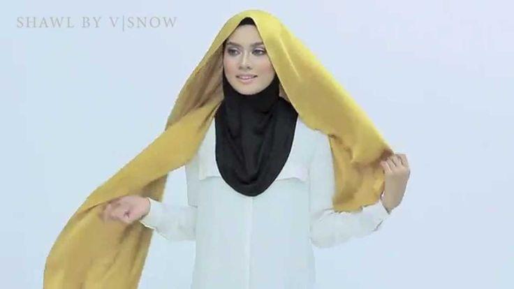 Shawlbyvsnow : Hijab Tutorial with Satin Scarf