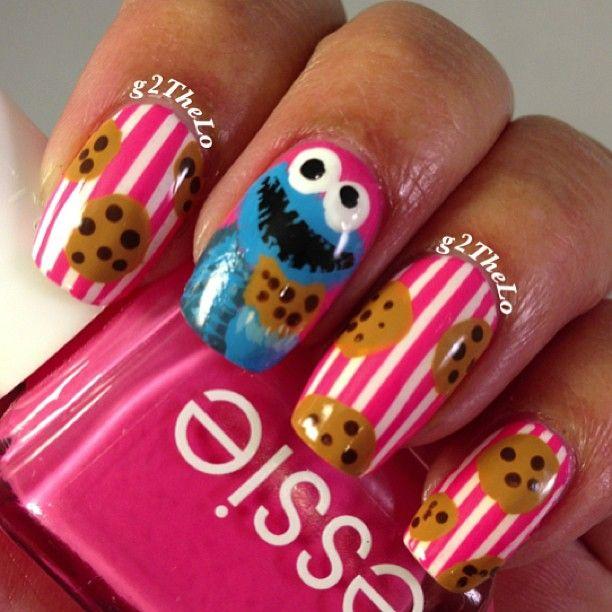 COOKIES MONSTER  by  g2thelo  #nail #nails #nailart