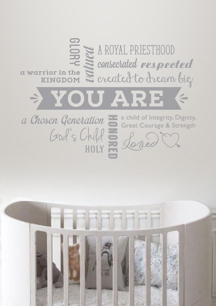 You Are Declaration Wall Decal Vinyl for Madi & Me perfect for any nursery