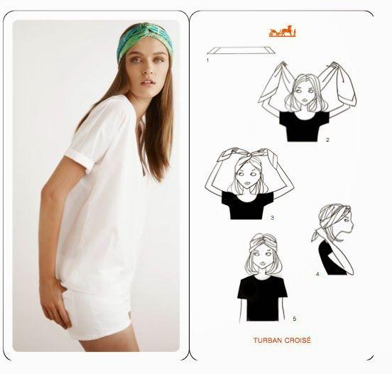Alcuni modi per indossare il foulard. Some methods to wear your head scarf.