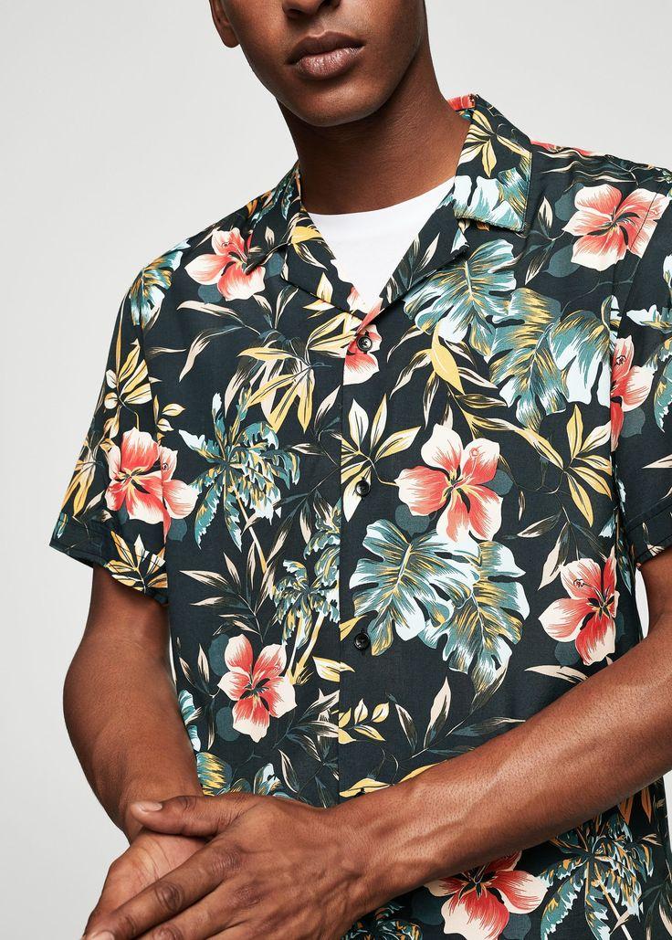 Camisa regular-fit estampado floral - Camisas de Hombre | MANGO Man España