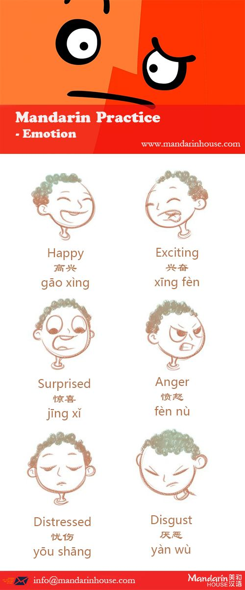 Emotion in Chinese.For more info please contact: bodi.li@mandarinhouse.cn The best Mandarin School in China.