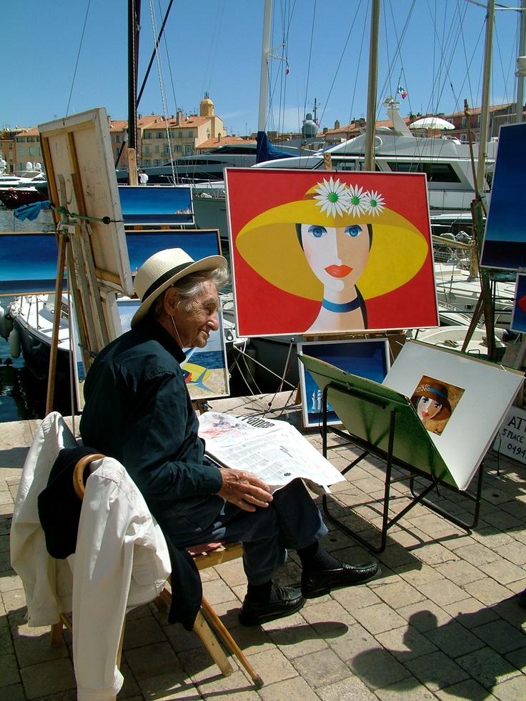 The Artist...Saint Tropez, France