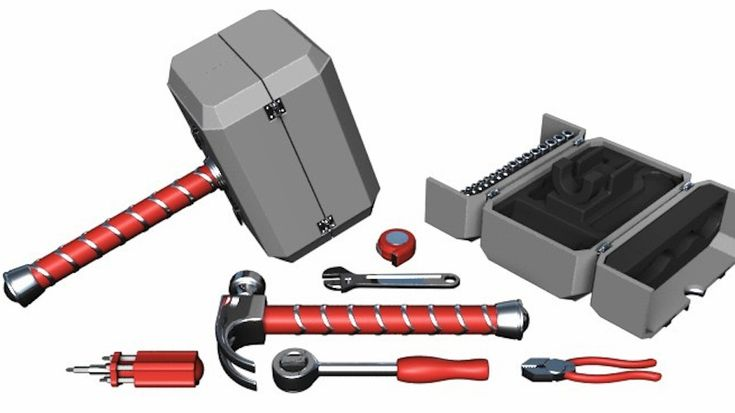 Amazing Inventions Thor's Mjolnir Toolbox  | www.piclectica.com #piclectica