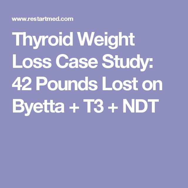 Thyroid Weight Loss Case Study: 42 Pounds Lost on Byetta + T3 + NDT
