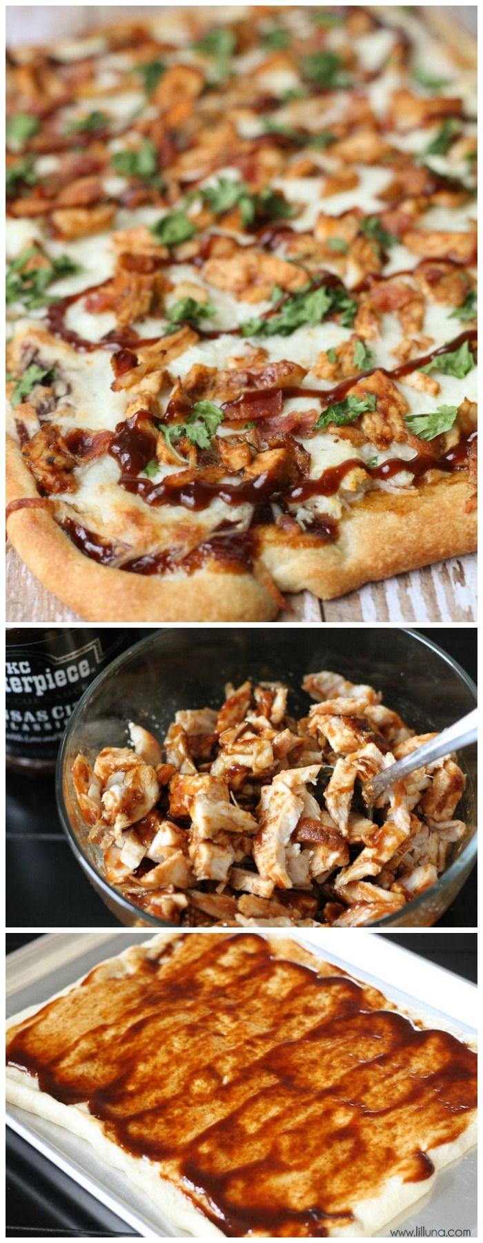 Delicious Barbecue Chicken Pizza recipe on { lilluna.com }