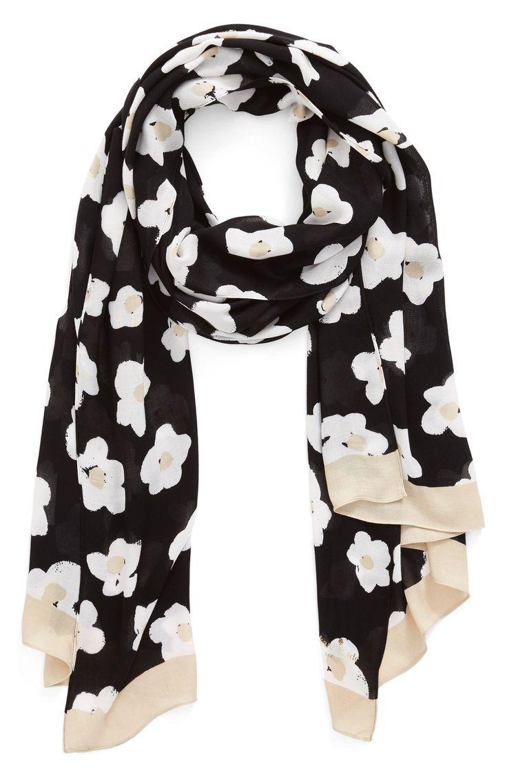 kate spade new york floral print scarf
