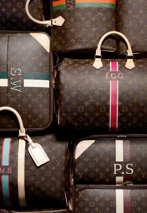 Monogrammed Louis Vuitton.