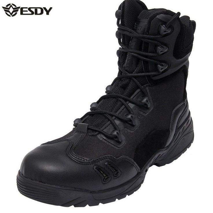 2016 new fashion men boots genuine leather outdoor desert combat boots military assault tactics breathable wear non-slip boots