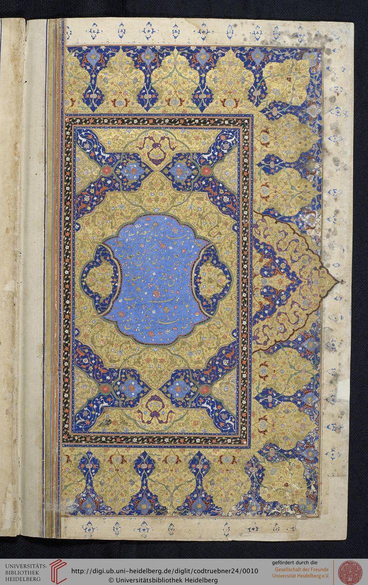 Cod. Trübner 24 Hafiz (Hafez) Diwan Persien (?), vor 1676 Wissenschaftliche Beschreibung Sammlung Zitierlink: http://digi.ub.uni-heidelberg.de/diglit/codtruebner24 i URN: urn:nbn:de:bsz:16-diglit-41708 i Metadaten: METS