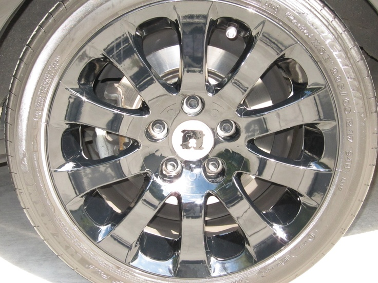 BMW wheel - black vinyl adhesive film