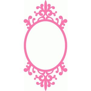Silhouette Design Store - View Design #67118: ornamental flourish swirl oval frame