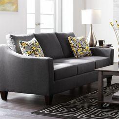 'Sloan' Sofa 77x33x34 In Almond and Mocha