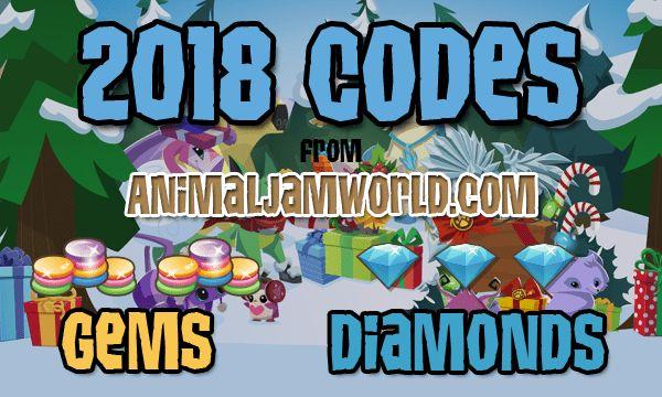 Animal Jam Codes for 2018   #AnimalJam #Cheats #Codes #Diamonds #Gems http://www.animaljamworld.com/codes/
