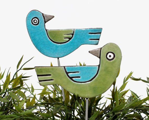 love birds garden art  garden decor  garden decoration  by GVEGA
