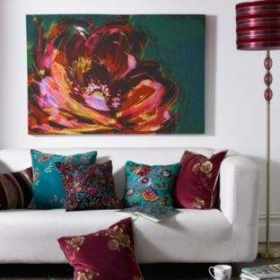 Love the painting, might try painting this in brighter colours. Flower / Canvas / Painting / DIY / Home Decor / Wall Painting