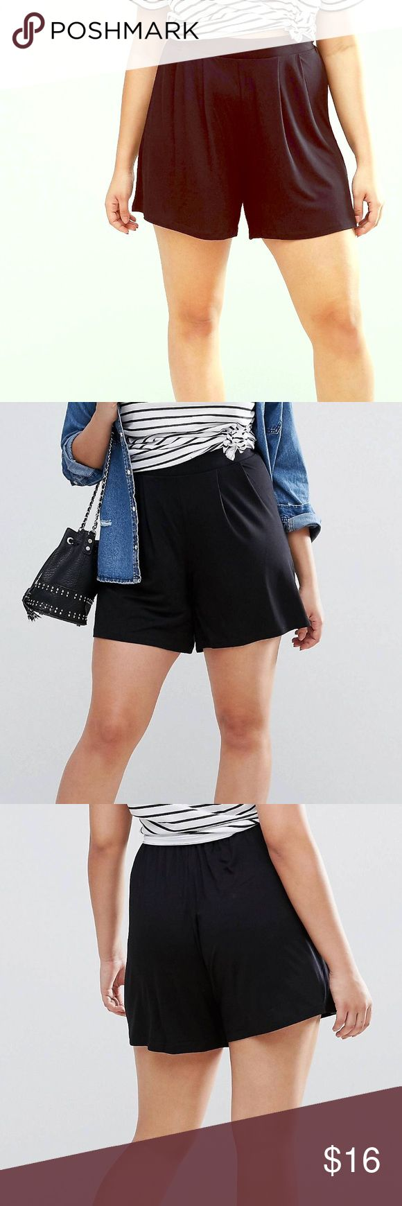 ASOS Curve Pleated Culotte Shorts Never worn with tag. These don't flatter me at all so I used stock photos, sorry! Adorable stretch shorts from ASOS curve. ASOS Curve Shorts
