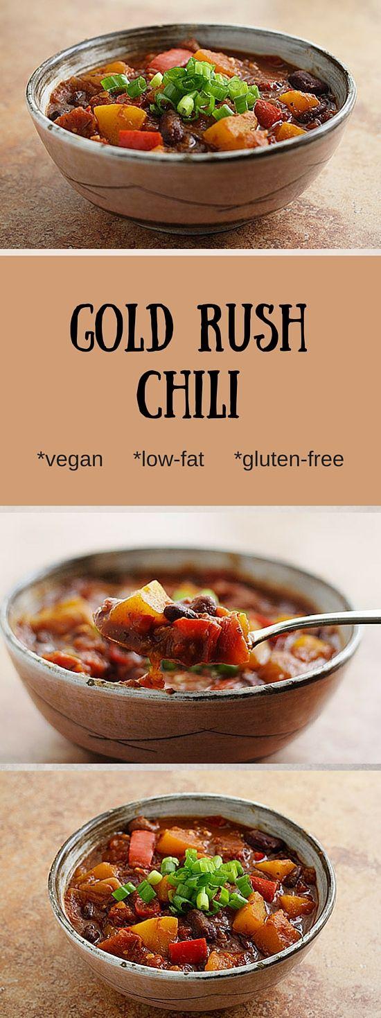Gold Rush Chili Vegan Chili, Gold Rush and Butternut Squash