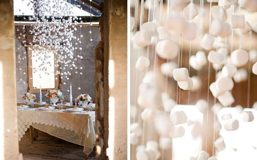 marshmallow snow garland and other handmade holiday garland ideas: