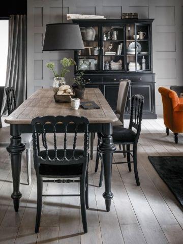 Les 25 meilleures id es de la cat gorie salle manger for Table de salle a manger noire