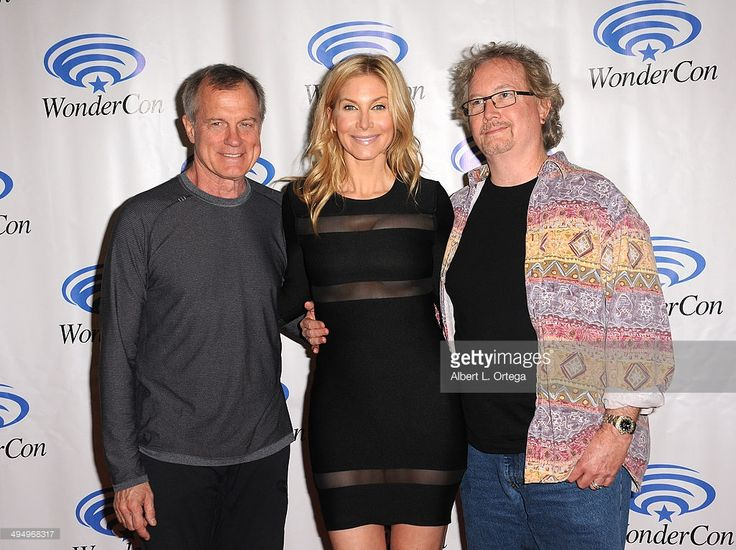 Actor Stephen Collins, actress Elizabeth Mitchell and writer/producer Rockne S. O'Bannon promote NBC's 'Revolution' at WonderCon Anaheim 2014 - Day 1 held at Anaheim Convention Center on April 18, 2014 in Anaheim, California.