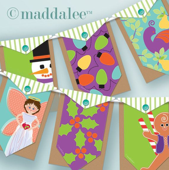 Christmas Bunting Banner Pattern