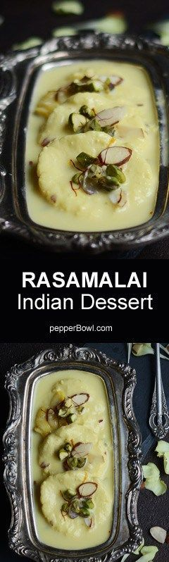 Easy Rasamalai Recipe? the process and procedure is very simple with step by step pictures and instruction. | http://pepperbowl.com