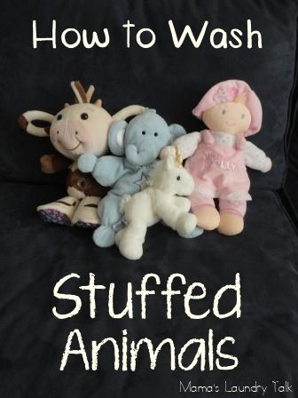 How to Wash Stuffed Animals- this worked great! so much easier and more effective than washing by hand. Winnie the Pooh is now yellow again.