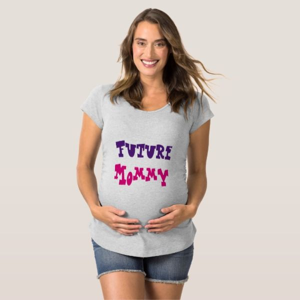 """Zwangerschaps t-shirt """"Future mommy""""."""