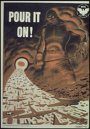 Pour it on! WW2 US poster http://www.flickr.com/photos/bpx/137770845/sizes/m/in/set-72057594121519817/