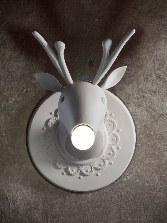Beautiful (deer)lamp 'Marnin' by Karman. Dimensions: 36mm. Visit our shop at Nieuwe Binnenweg 190 to see this lamp.