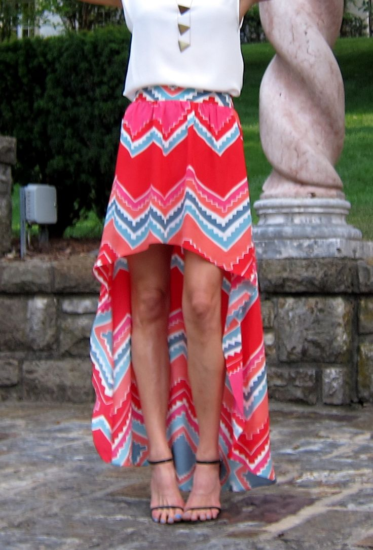 skirt: Beautiful Summer, Patterns Skirts, High Low Skirts, Chevron Skirts, Summer Outfits, Clothing Summer, Summer Skirts, Hi Low Skirts, Tribal Skirts